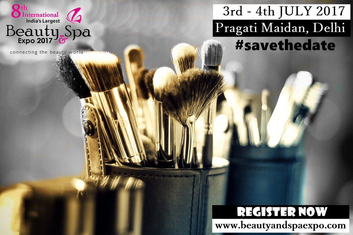 #beauty #makeup #exhibition India's Largest Beauty and Spa Trade Show 2017 at Pragati Maidan on 3 - 4th July https://goo.gl/x1RftS pic.twitter.com/ ...
