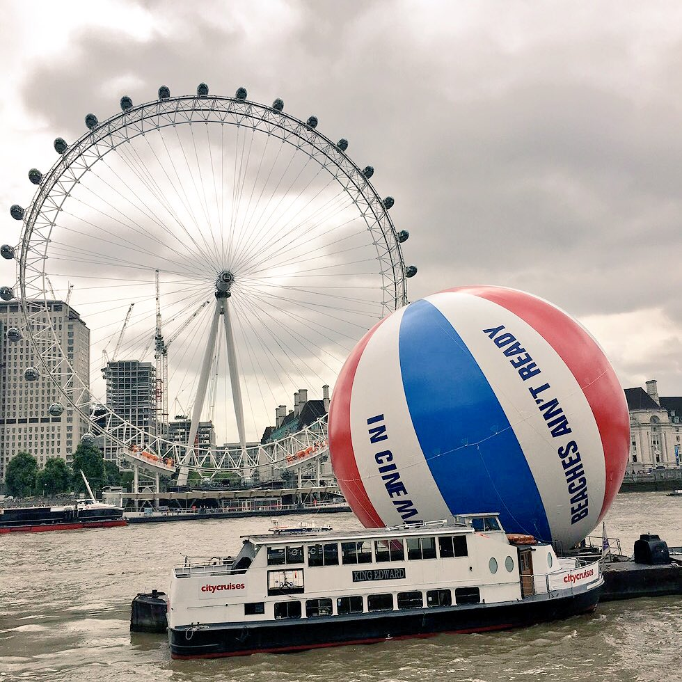 Baywatch movie floats world record breaking beach ball down the Thames; no one cares