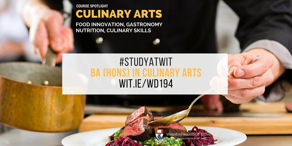 Looking to learn all about food this Sept? Check out our BA (Hons) in Culinary Arts #CAO17 #LeavingCert #StudyatWIT  http:// wit.ie/CAO  &nbsp;  <br>http://pic.twitter.com/9UvO329X51