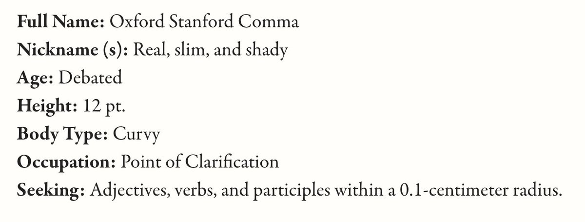 mcsweeneys online dating The oxford comma's online dating profile  online dating punctuation  you can buy all of these things from our online store we're also transitioning to a .
