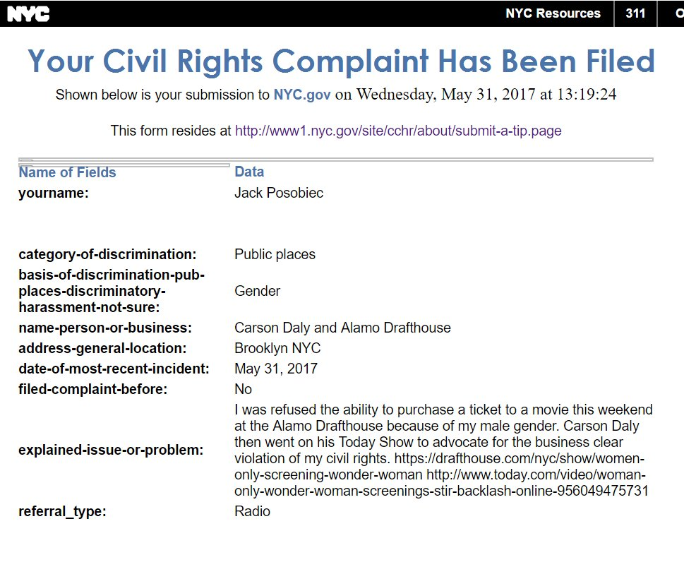 Jack Posobiec On Twitter I Have Filed A Formal Civil Rights