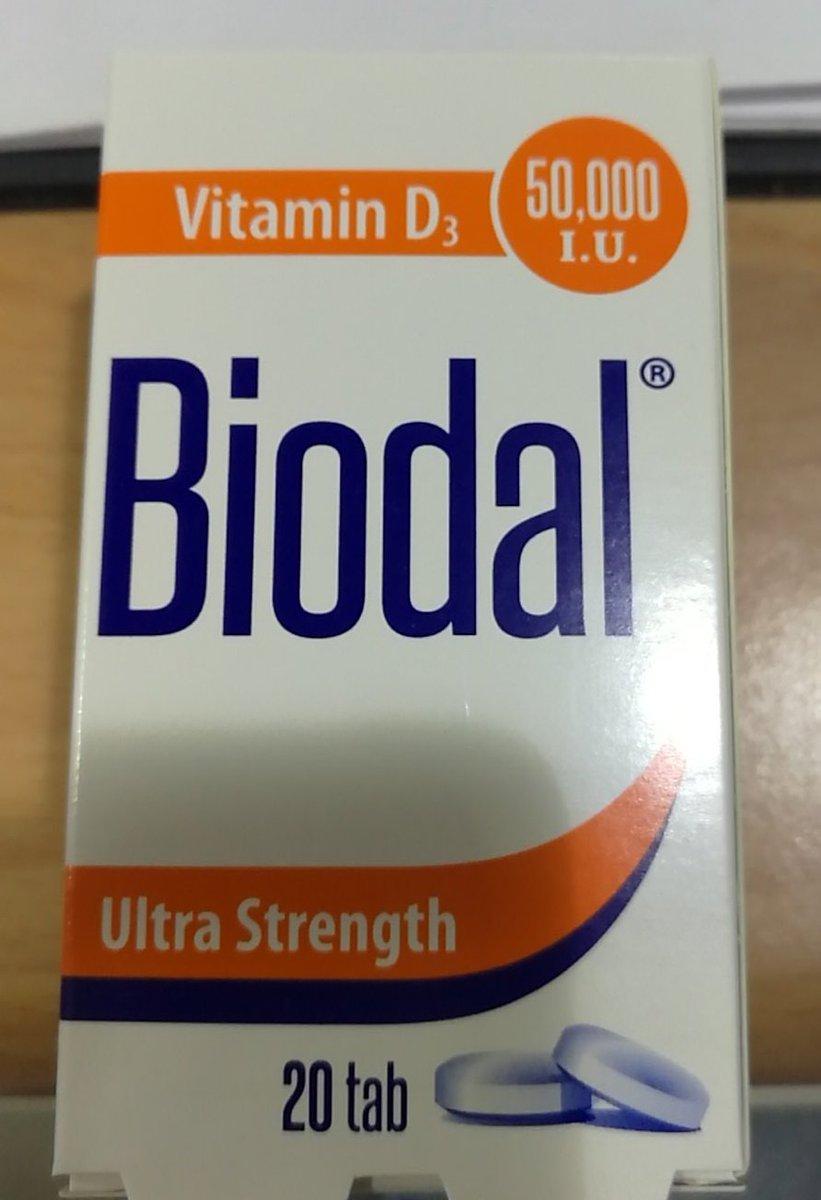 Dr Faris Pharma On Twitter اخي في حبوب فيتامين د عيار 50000iu ممكن تاخذها مرة بالاسبوع اسمها Biodal Tab و سعرها 64ريال تكفي خمسة اشهر Https T Co 82d96sezdv