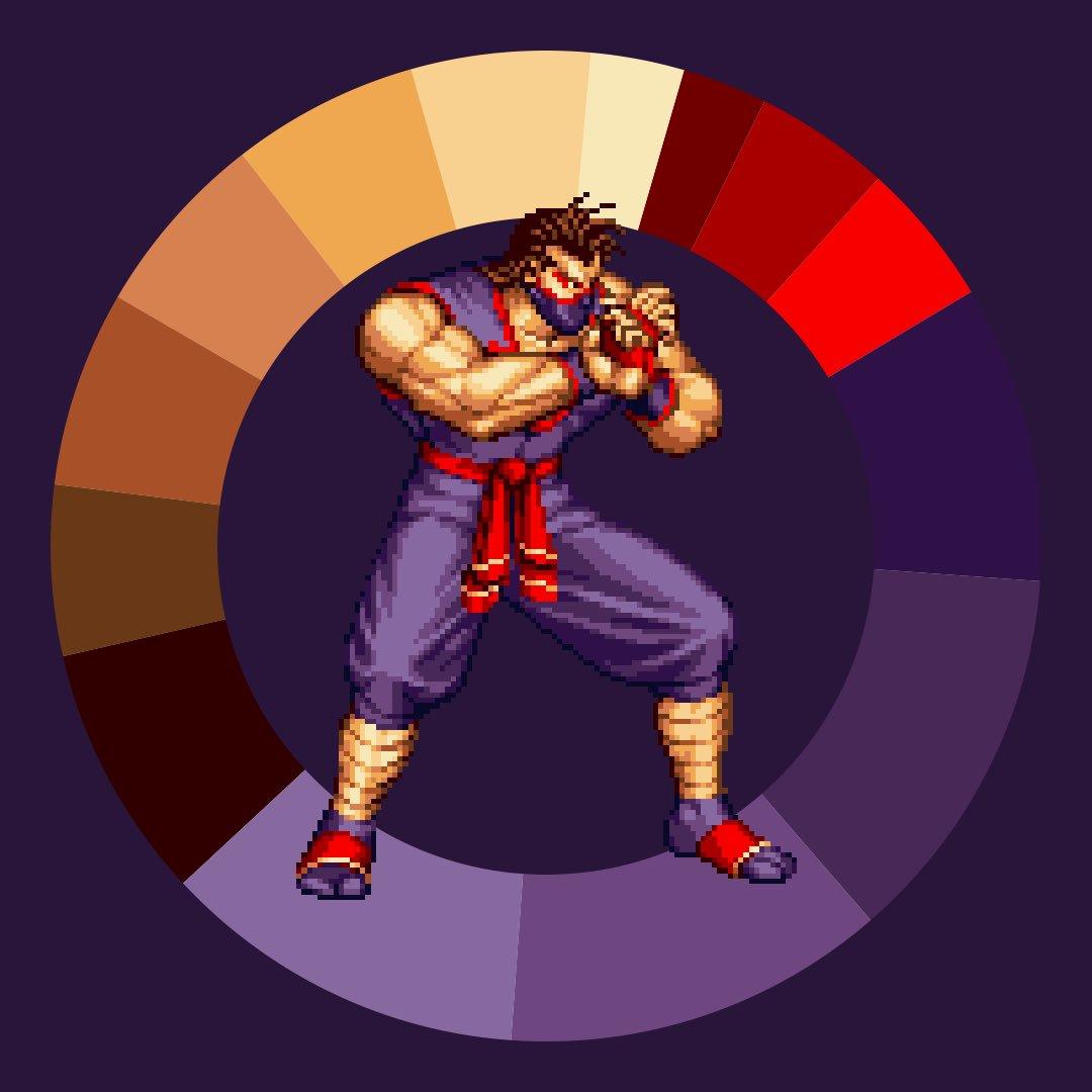 Co color wheel art - Game Color Wheel On Twitter Eiji From Art Of Fighting 2 Gamecolorwheel Pixelart Snk Arcade Https T Co Wxteholl6y Https T Co Y7ck1yahjr