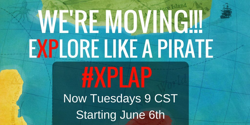 Big News!!! Starting next week #XPLAP will get a new time slot! Hope you all find our new port of call! #TLAP #EDchat https://t.co/PNSzhYOEhq