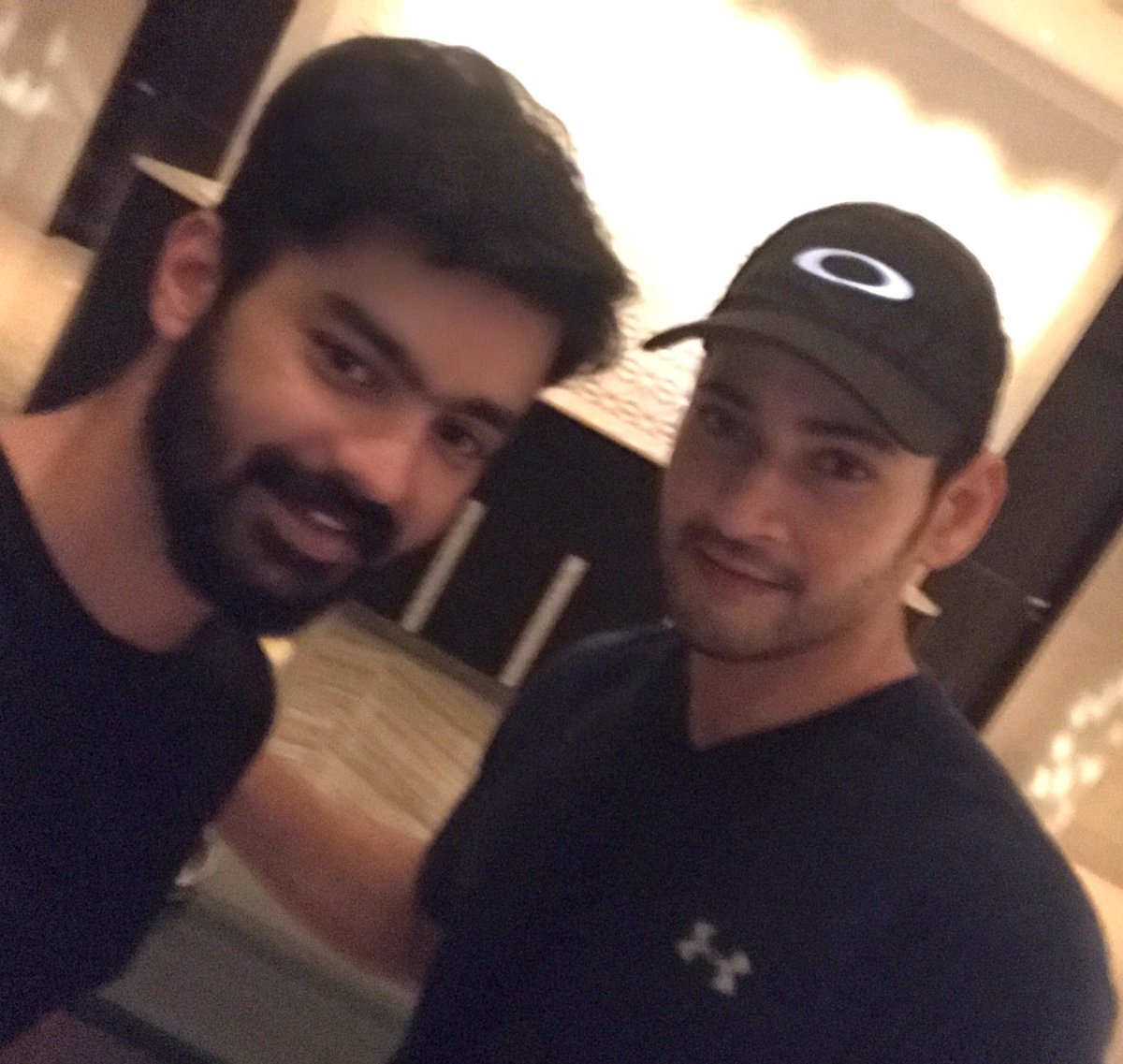 Look who's in town! The prince  @urstrulyMahesh