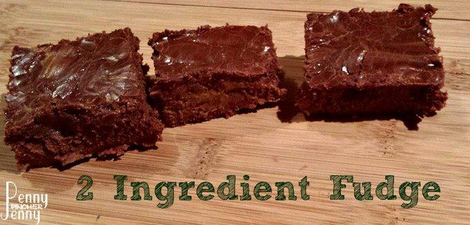 2 Ingredient Fudge a Simple Dessert