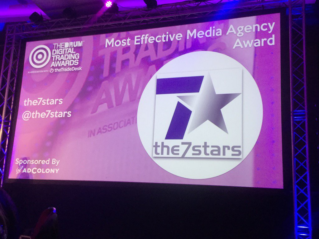 RT @SymmetriGal: Another win for @the7stars this time for most effective agency #DTAwards https://t.co/Z4x5ZODHdO