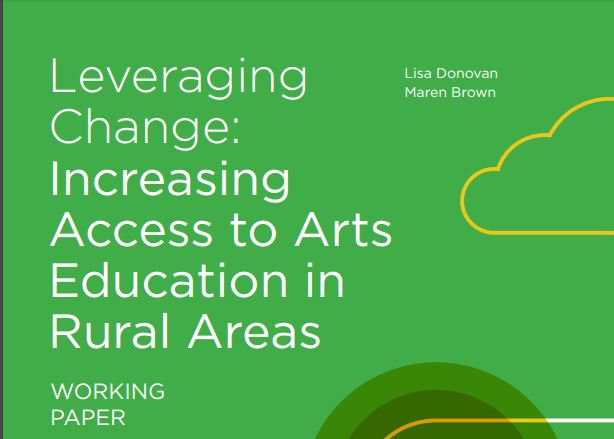 Webinar at 3 pm EDT today will focus on this working paper: https://t.co/oYgyWqNku6 Increasing Access to Arts Ed in Rural Areas https://t.co/65cowLQDsW