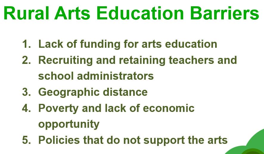 Donovan: Barriers to arts education in rural areas are complex https://t.co/wPX3hM5CVc