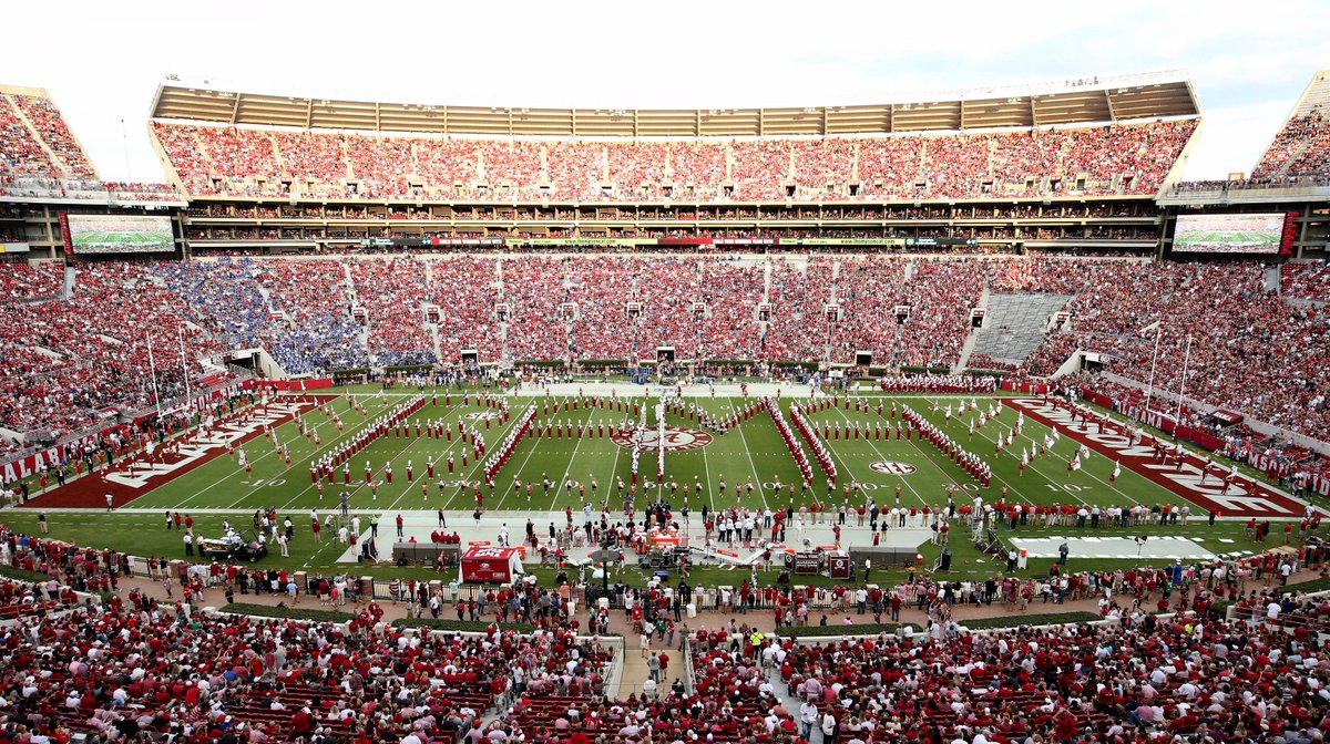 Kickoff times for Alabama's first two home games announced https://t.c...