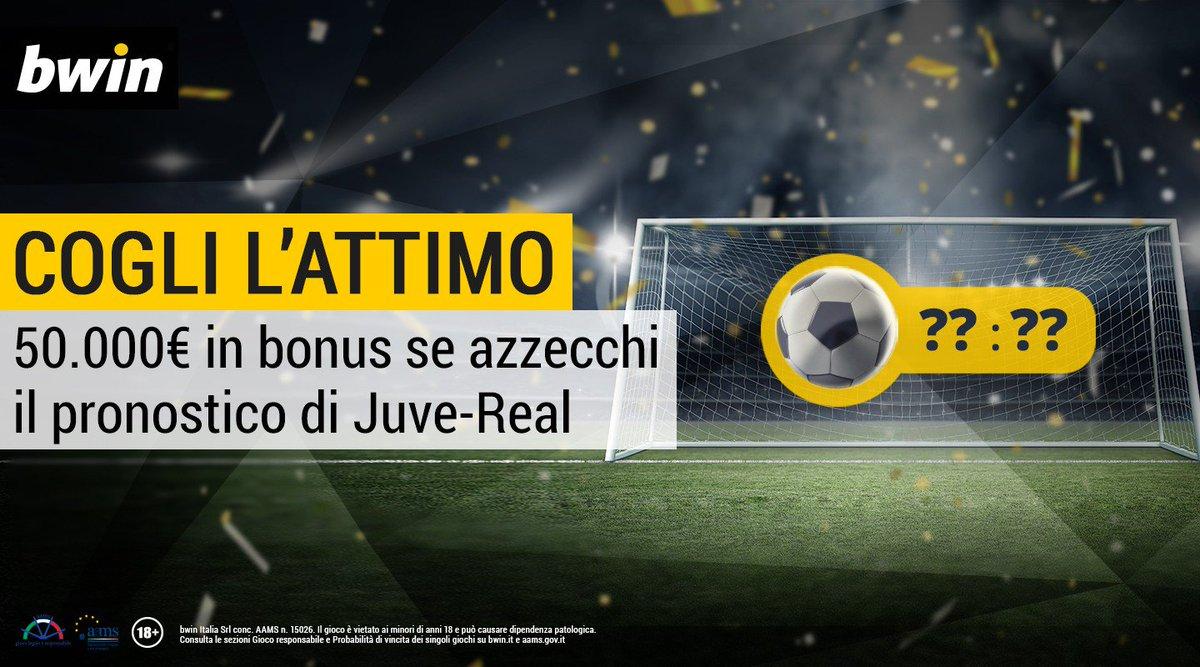 Juventus-Real Madrid Scommesse: bonus da 50mila Euro se indovini il momento esatto del primo gol
