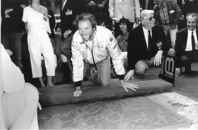 Happy birthday Clint Eastwood! He\s pictured at his imprint ceremony in 1984!