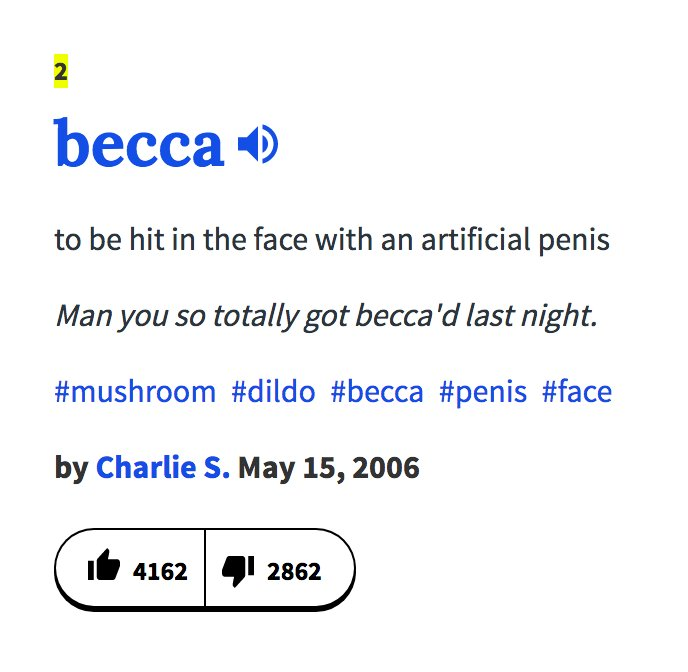 Becca urban dictionary