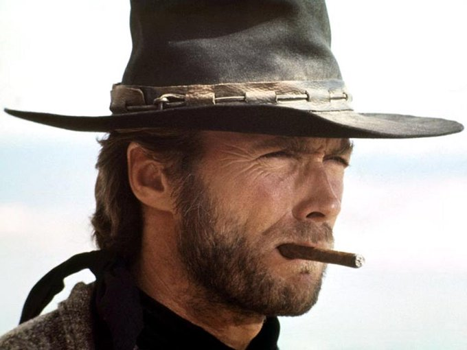 """Happy 87th birthday to \""""Dirty Harry\"""" the all American badass Clint Eastwood."""