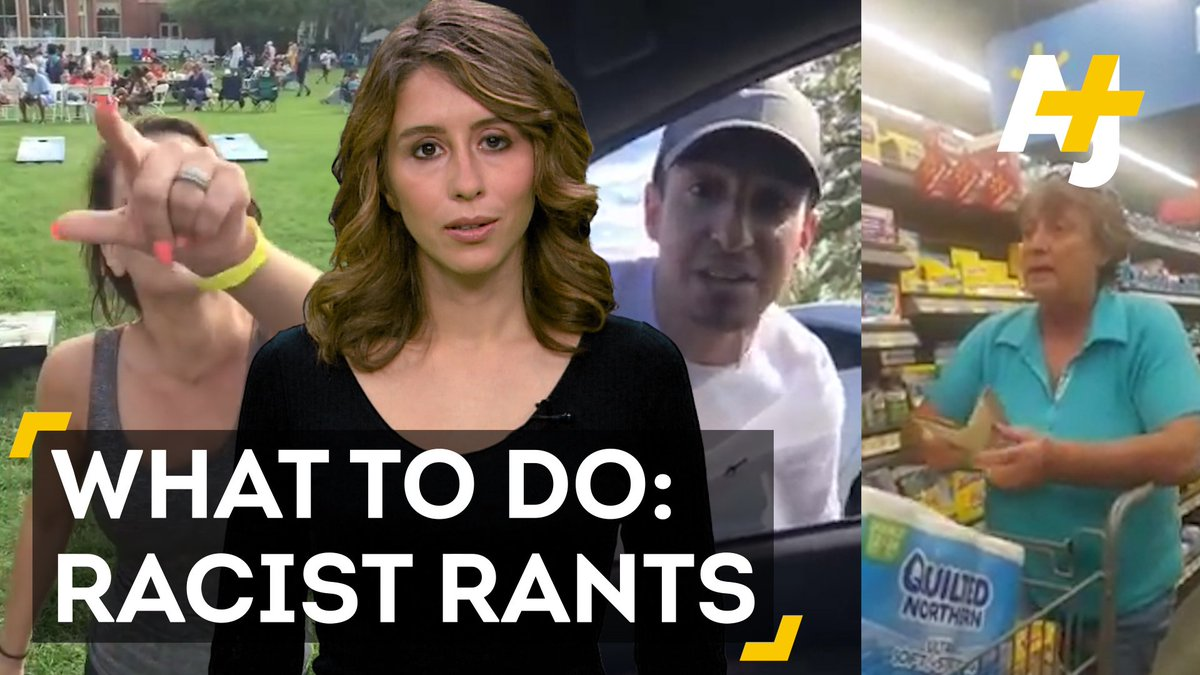 What's the best way to help if you see a racist rant?
