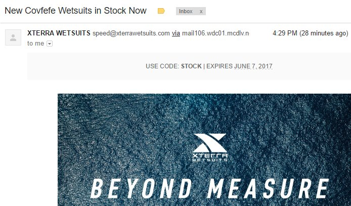 Bravo @XTERRAWETSUITS. May your open rates be high. #covfefe<br>http://pic.twitter.com/HmyTBfzoi5