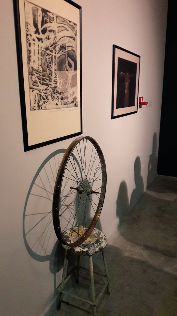 Vista de una de las obras de la exposición en el CCU