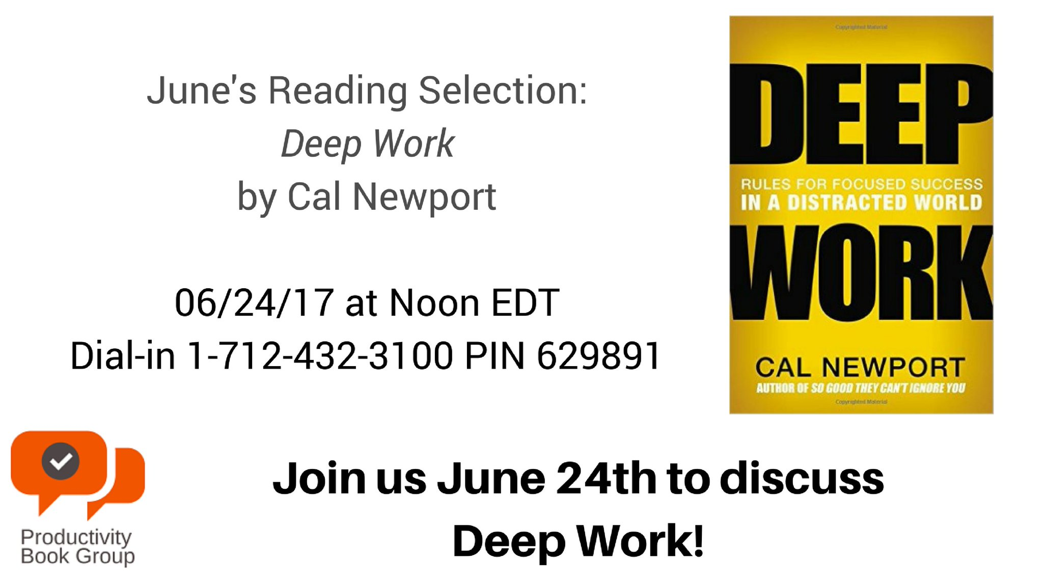 Join us for our next #Productivity Book Group live discussion! https://t.co/n14akGBB5E #prodchat https://t.co/XBQhPKIvy6