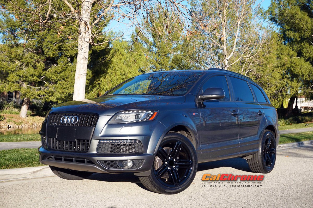 Calchrome On Twitter 21 Audi Q7 Triple 5 Spoke On Gloss Black Wheels Audiq7 Glossblackwheels Shinefactory Smilesformiles 21inchwheels Calchrome Powder Https T Co Udhzdkp3sy