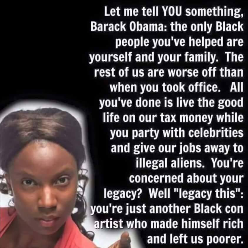 #StateOfBlackAmerica is MUCH worse after 8 Years of b. hussein obama, the #WorstPresidentEver https://t.co/OwO1pUPW6u