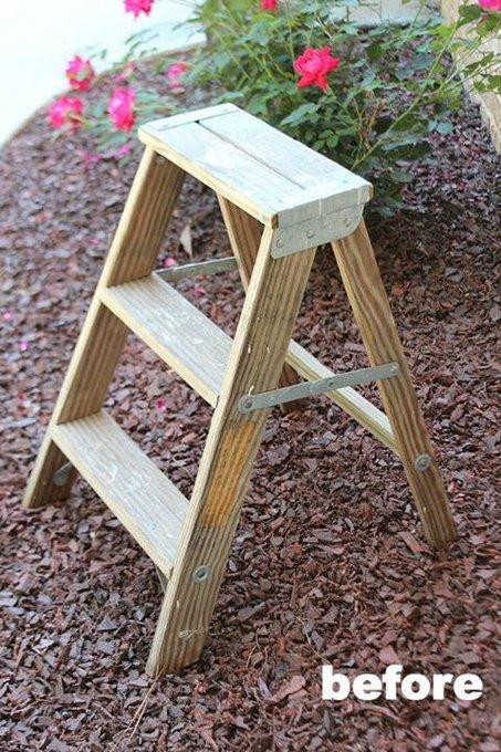 Ladder Side Table Planter