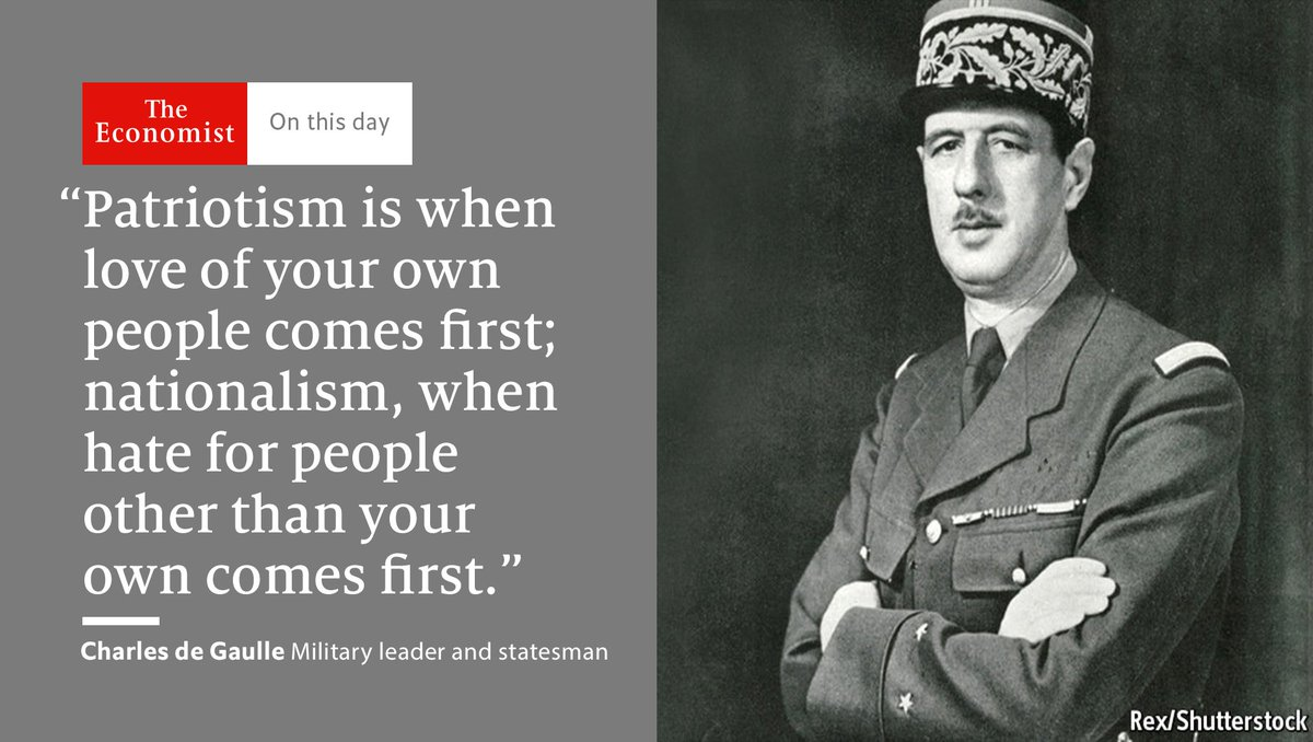 Charles de Gaulle—France's noble, exasperating icon—became prime minister of France #OnThisDay 1958 https://t.co/J5FUc39oyI