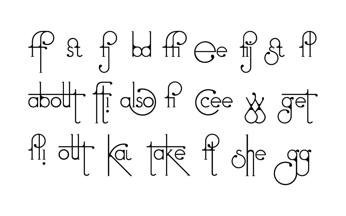Futuracha Pro Fontがやっとリリースされた! 文字の前後で異なる字形が打てて、面白いフォントです。