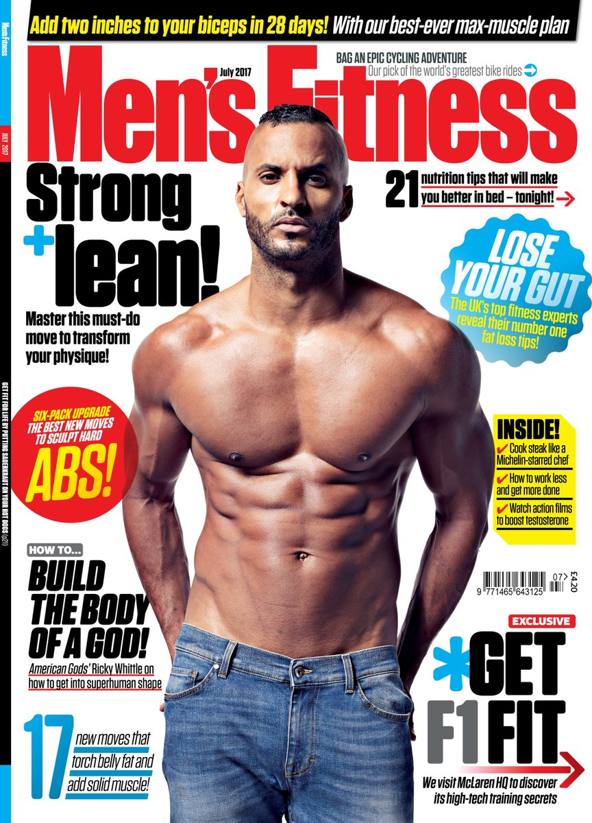ddc705f61e2 Out now! The new issue of MF featuring TV s hottest star  MrRickyWhittle on  how he built his  AmericanGods body! Pick up your copy today!pic.twitter.com   ...