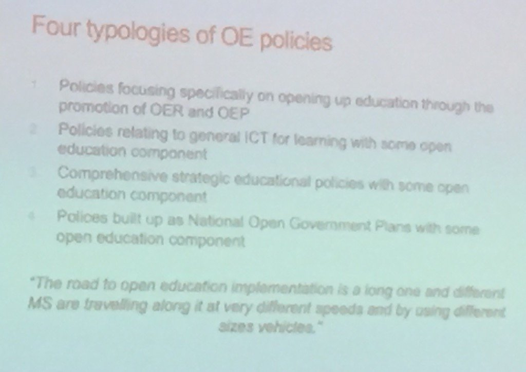 The open education policy landscape across Europe #oerforum #openscot https://t.co/RYmQdwf29J