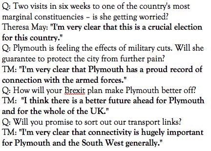 If you don't want to cringe so hard you'll end up in another dimension, *do not* read @theresa_may's interview with the Plymouth Herald.
