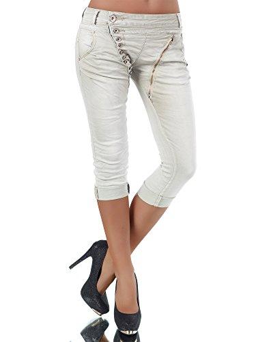 Beige jeans hose damen
