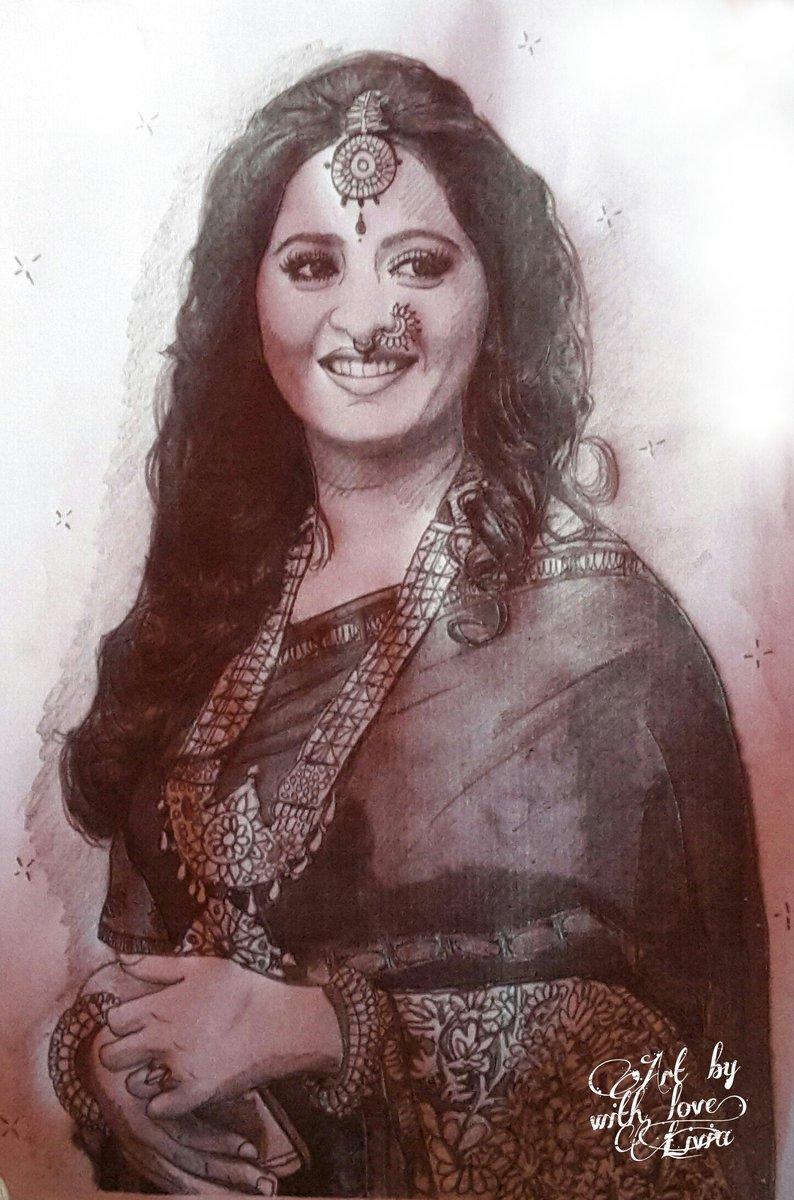 Devasena anushkashetty baahubali2 ssrajamouli prabhas arkamediaworks pencil sketch for her pic twitter com 2uopy14lzh