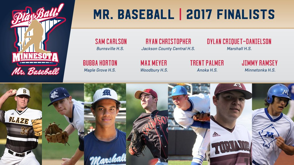 Congratulations to the 2017 Mr. Baseball finalists!