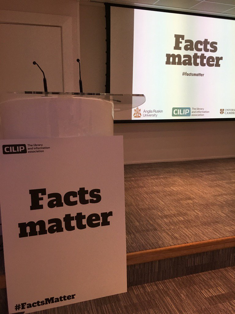 Getting ready for the #factsmatter event at @theUL https://t.co/tbVyIgG24H