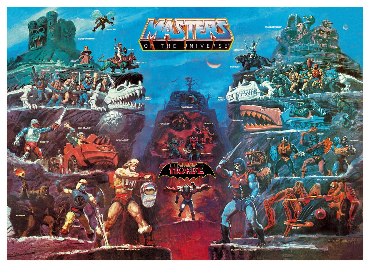 RIP William George who created some of the most iconic art work of all time for Masters of the Universe. https://t.co/FsbfTyCyzL