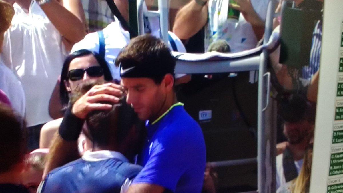 Almagro retires in tears, crowd cheering his name, Del Potro being Del Potro. https://t.co/1DxYuBJngQ