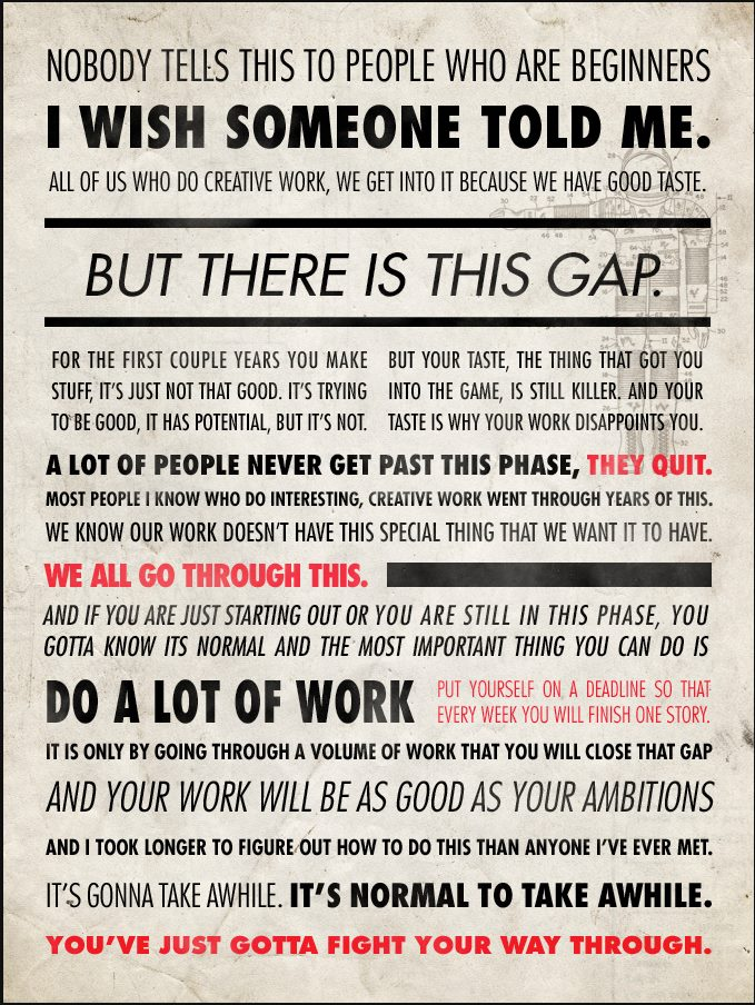 David Cummings On Twitter This Quote From Ira Glass Resonates With