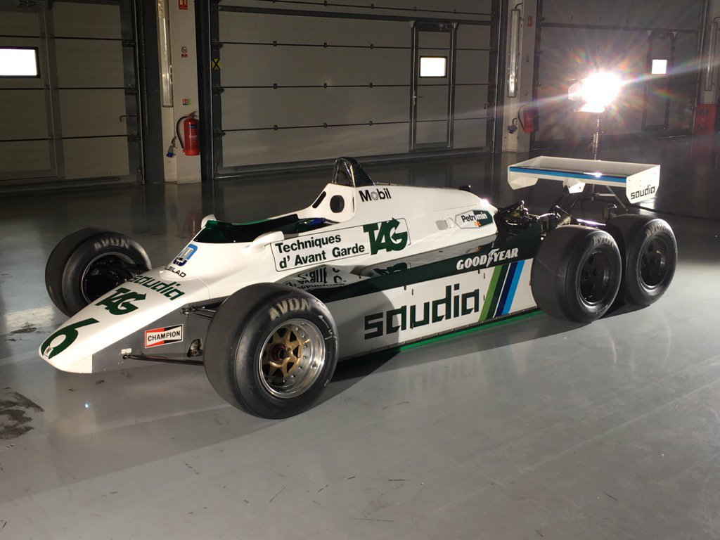 martin brundle on twitter next up will be the 6 wheel williams fw08b it 39 s not really f1 car. Black Bedroom Furniture Sets. Home Design Ideas