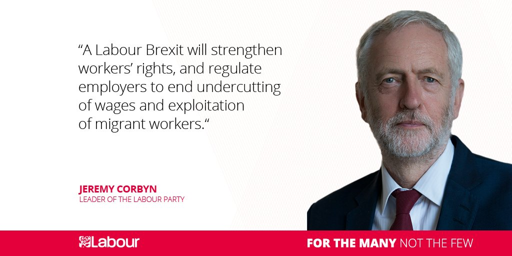 A @UKLabour Brexit will strengthen workers' rights, and regulate employers to end undercutting of wages and exploitation of migrant workers.