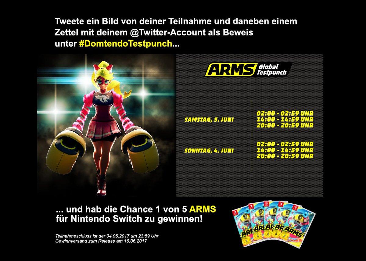 RT und mitmachen, um zu gewinnen! #ARMS #Nintendo #ArmsGlobalTestpunch #DomtendoTestpunch