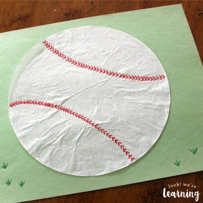 Coffee Filter Baseball Craft