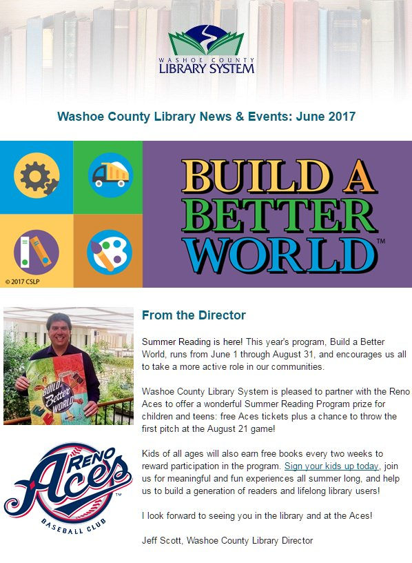 Washoe County Library System Summer Reading Program 2017