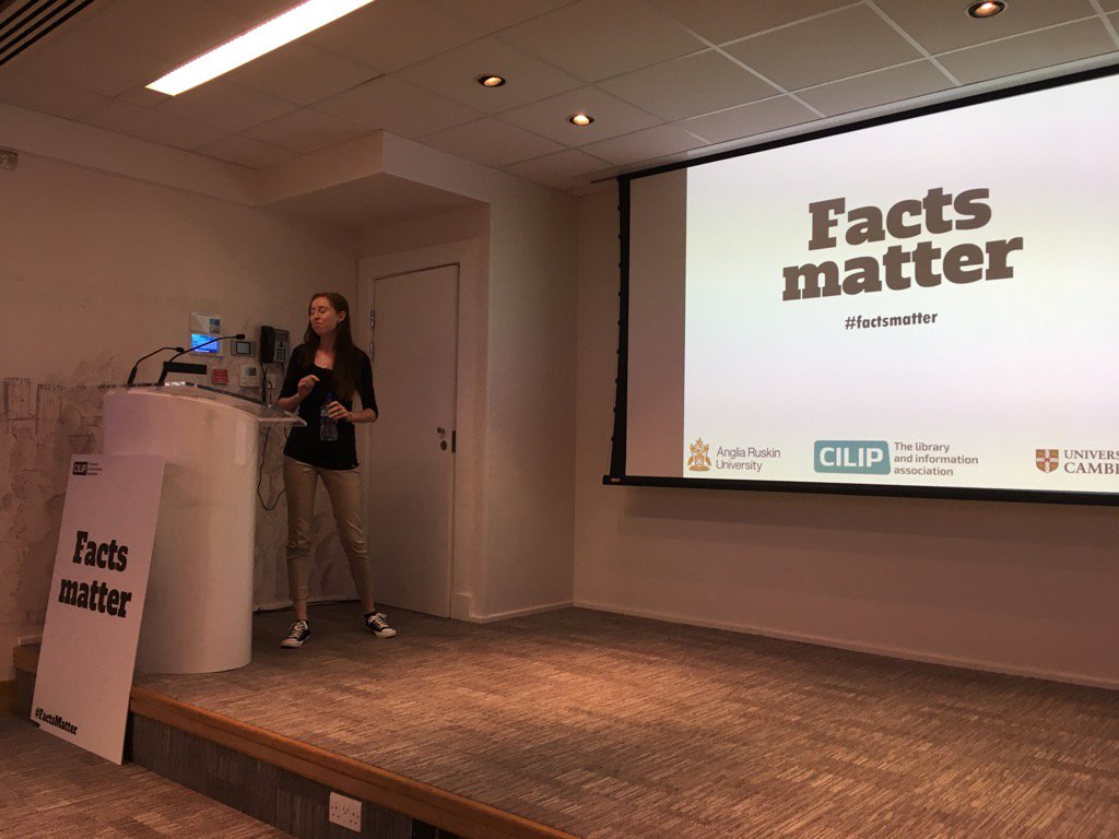 #factsmatter event kicking off with a welcome from @CMenown https://t.co/REOMwosoaJ