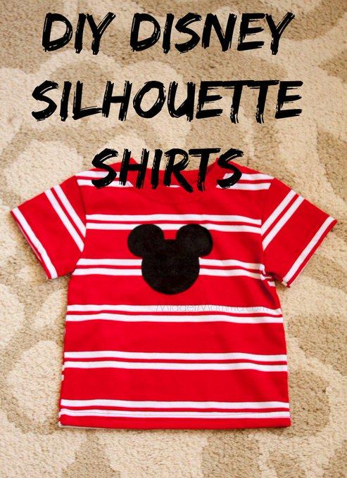 DIY Disney Silhouette Shirts