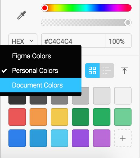 Figma On Twitter You Could Create A Custom Color Palette
