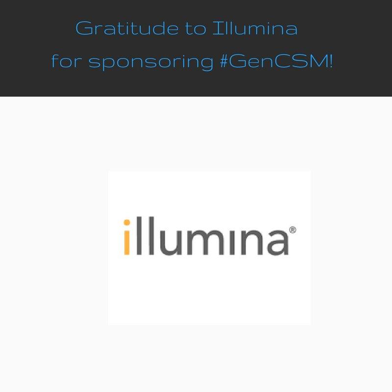 #GenCSM Thank you @illumina! https://t.co/CFiMcggBJZ