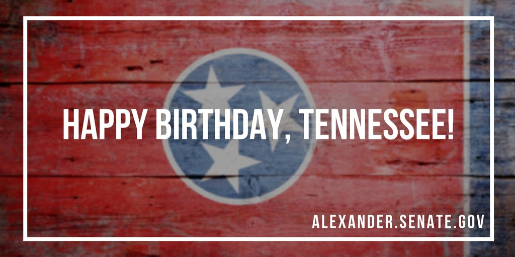On this day in 1796, Tennessee became the 16th state admitted to the union. Happy Birthday, Tennessee! https://t.co/pvXmtoWv33