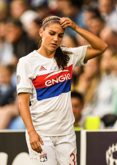 f8100cdd3  USWNT star Alex Morgan had to be substituted off for Lyon in the Women s  Champions League final for an injured hamstring.pic.twitter.com domaddP9ce