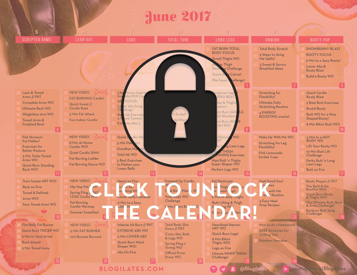 Cassey Ho On Twitter Did You Get The June Workout Calendar Yet Tco Ym2WhtiUgv