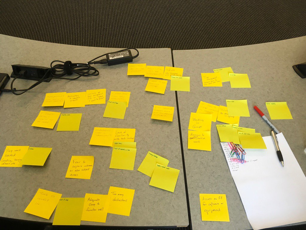 @TeresaWalkerUTK  - we are doing the post-it activity like when we were strategic planning #OLCwELD https://t.co/eg61W9U7Ne